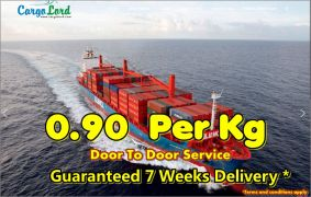 Cargo to Pakistan India and worldwide from 099p per kg