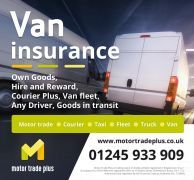 CHEAP INSURANCE VAN – FLEET – COURIER  MOTOR TRADE  TAXI – TRUCK