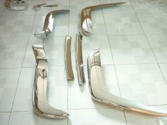 Volvo P 1800 Cow Horn stainless steel bumpers