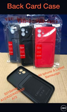 Back Card Case for all iPhones and Samsung Mobile in UK