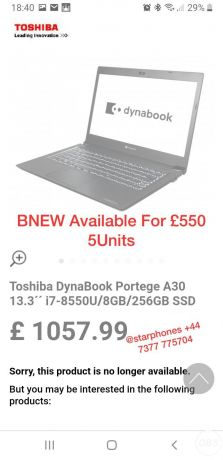 For Sale Dynabook Bnew in uK free ads