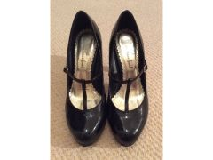 Black patent tbar heels for Sale in the UK