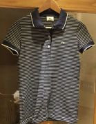 For Sale Lacoste blue and white striped polo shirt  in UK