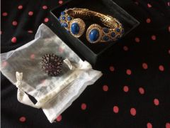 Gorgeous costume bracelet and ring for Sale in the UK