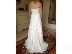 Ivory strapless wedding dress for Sale in the UK