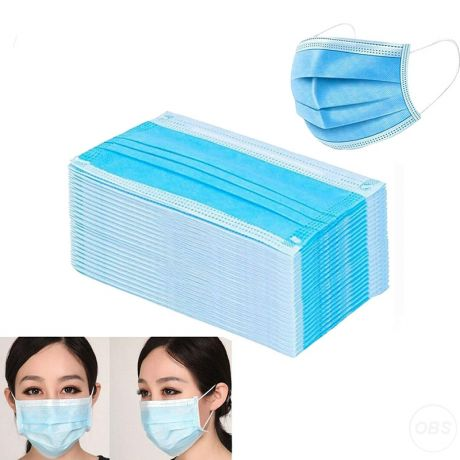 Laboratory Use Cleanroom Procedure AntiViral Isolation Facemask With Ear Loops