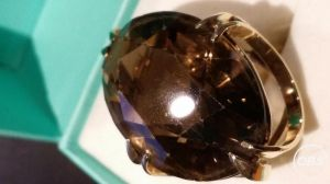 Large 9ct Gold Oval Smoky Quartz Ring for Sale at UK Free Classified Ads