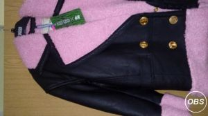 New with tags leather jacket with pink fur UK Free Ads
