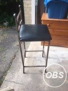 2 steel and leather bar chairs for sale in the UK Free Ads