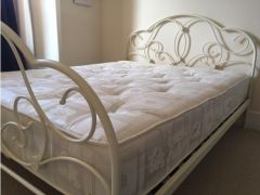Arabella Stone White Metal Bed Frame for Sale in the UK