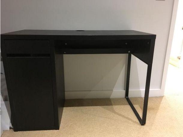 black ikea desk for sale in the uk furniture england. Black Bedroom Furniture Sets. Home Design Ideas
