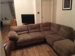 Fabric corner sofa with seperate foot stool  for Sale in the UK