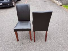 For Sale 4 Brown Faux Leather Chairs in UK