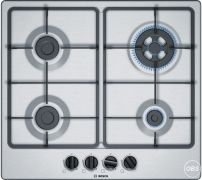 For Sale Bosch Serie 4  Gas Hob  4 hobs  60 cm  Stainless steel  PGH6B5B60 in UK