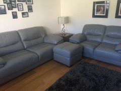 For Sale Grey leather 3 seater Sofa in UK