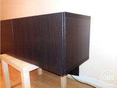 IKEA Besta unit with doors dark brown for Sale in the UK