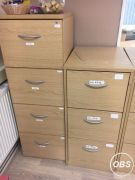 Office furniture 3 draw and 4 draw filing cabinets for Sale in the UK