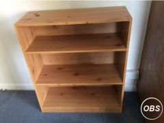Pine effect bookcase for Sale in the UK