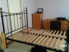Selkirk black and brass 5ft king size bed frame  for Sale in the UK