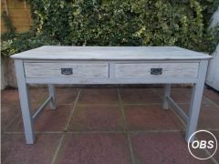 Solid Wood Kitchen Table with Drawers for Sale in the UK