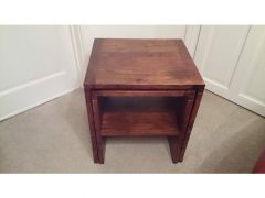 Solid wood Walnut set of 2 nest of tables for Sale in UK