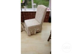 Two matching cushioned chairs for Sale in the UK