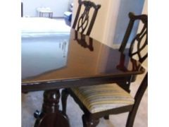 Wooden Extendable Dining Table And 8 Chairs For Sale In The UK