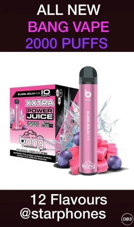 Bang Vape 2000 Puffs for sale in UK