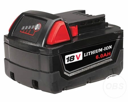 Cordless Drill Battery for Milwaukee M18B6