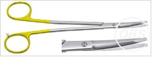 For Sale TC Rhytidectomy Scissors curved with splayed shanks 7 inch in UK