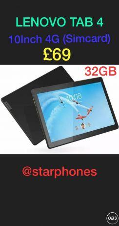 Lenovo Tab 4 10inch 4G Simcard For Sale in UK