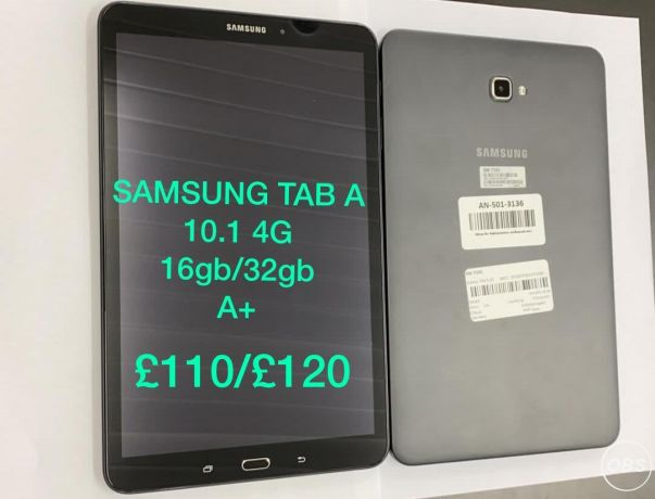 Samsung Tab A 101 4G  16gb32db A For Sale in uK Free Ads