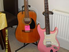 Beautiful Cruiser Pink Electric Guitar by CRAFTER VGC Available at UK Free Classified Ads