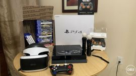 PlayStation 4 limited VR Ps4 And Ps5 Compatible 12 Games 2 Controllers for 230 Whatsapp: 14372660929