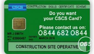 NO CSCS NO JOB!!!