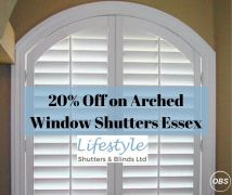 20 Off on Arched Window Shutters Essex