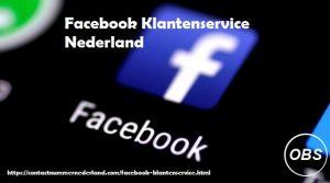 Bellen Facebook Klantenservice Nederland