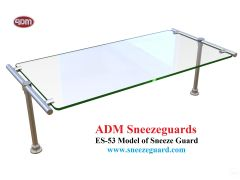 ES53 Model of Sneeze Guard  ADM Sneezeguards  Glass Guard