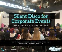 Headphones hire for silent conferences and events in the UK