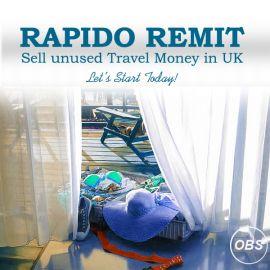 Hi Sell Unused Travel Money in UK with Rapido Remit