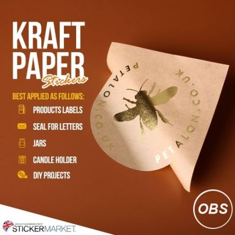 HighQuality Kraft Paper Stickers UK