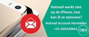Hotmail werkt niet op de iPhone hoe kan ik ze oplossen