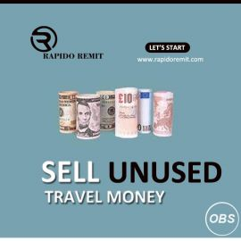 Lets start today sell your unused travel money in uk with rapido remit