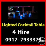 Lighted Cocktail Table Rent Hire Manila Philippines