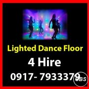Lighted Dance Floor Rent Hire Manila Philippines