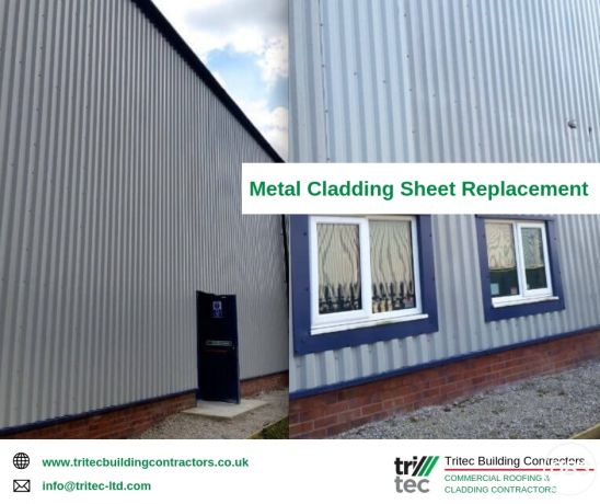 Metal Sheet Cladding Replacement  Commercial Wall Cladding