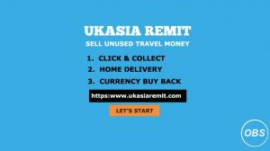 Now Sell unused travel money in UK with UK asia remit
