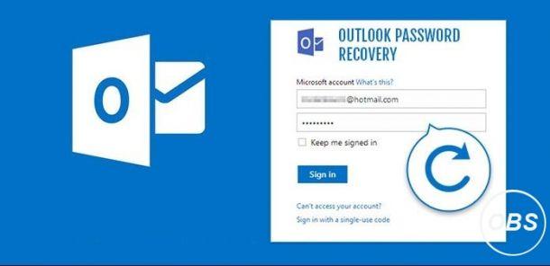 Outlook Password Vergeten herstel