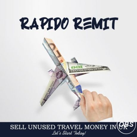 Rapido Remit Sell your unused Travel money in uk with rapido remit