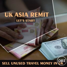 Sell Unused Travel money in uk with UK Asia Remit
